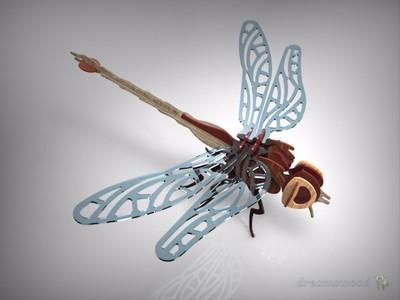 蜻蜓-3d打印模型