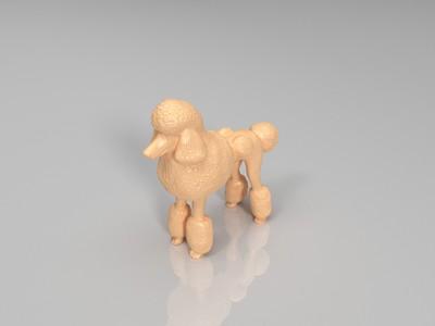 泰迪犬-3d打印模型