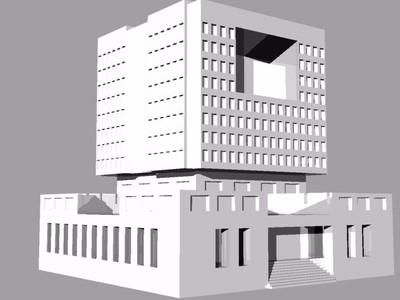南阳职业学院图书馆-3d打印模型