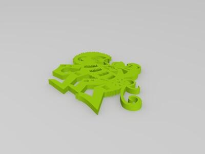 剪纸(猴)-3d打印模型