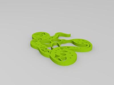 剪纸(蛇)-3d打印模型