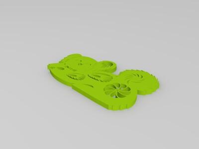 剪纸(狗)-3d打印模型