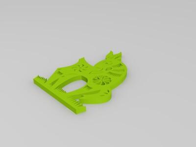 剪纸(羊)-3d打印模型