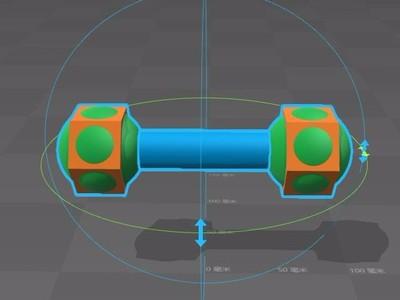 哑铃02-3d打印模型