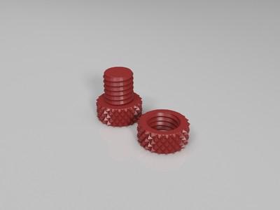 makerbot切片软件自带螺丝模型去底部logo-3d打印模型