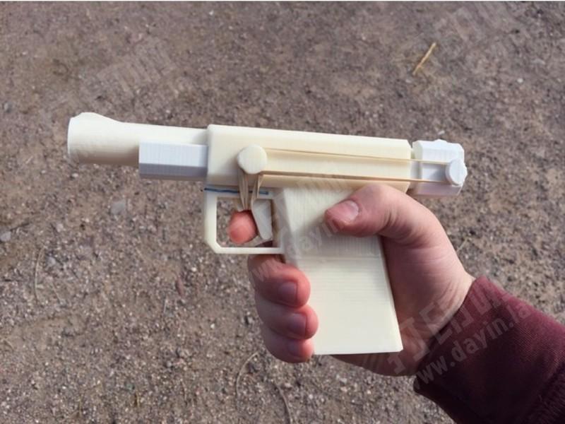 新版皮筋枪-3d打印模型
