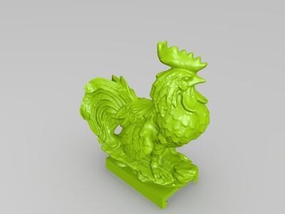 吉祥如意发财公鸡-3d打印模型