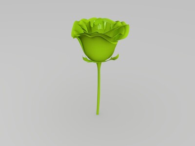 情人节好礼物精品玫瑰花-3d打印模型