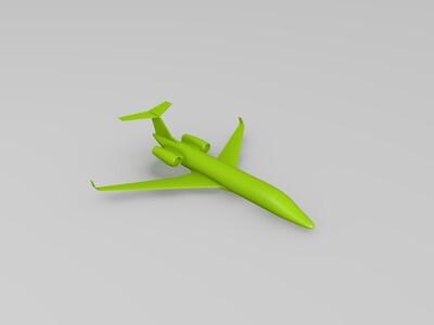 喷气式商务机-3d打印模型