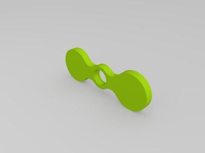 外径14mm轴承用的指尖陀螺-3d打印模型