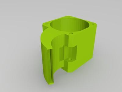 挤出机风扇罩-3d打印模型