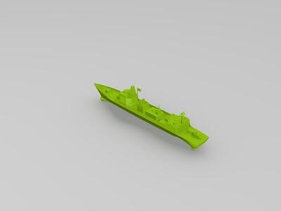 中国海军054d驱逐舰模型-3d打印模型