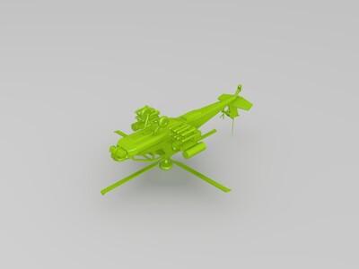 阿帕奇直升机-3d打印模型