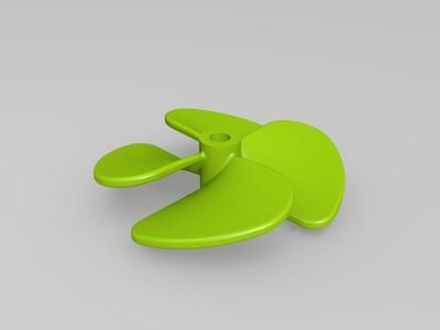 高效船舶4叶螺旋桨-3d打印模型