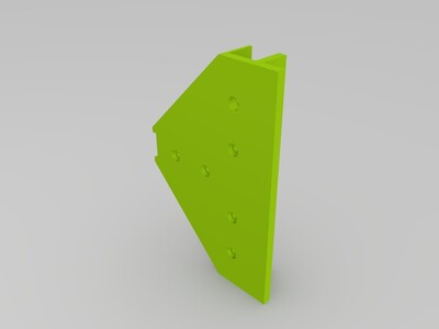 悬臂结构底部2020型材加强板-3d打印模型