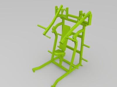 悍马健身器材-3d打印模型