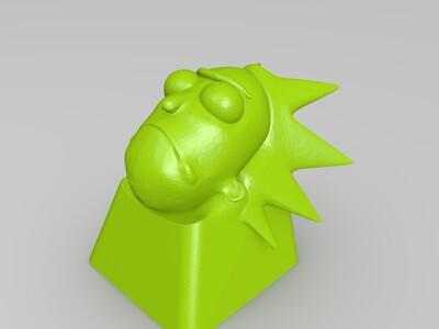 机械键盘帽 键帽两款-3d打印模型