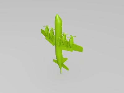 p3c猎户座反潜巡逻机-3d打印模型