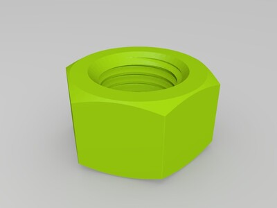 测试你的打印机m20螺帽-3d打印模型