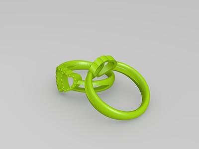心心相印戒指-3d打印模型