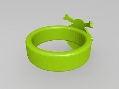 骷髅戒指-3d打印模型