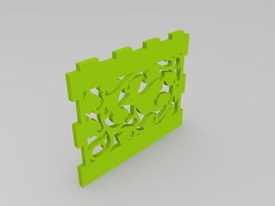 可打印的拼装蜂鸟纸盒-3d打印模型