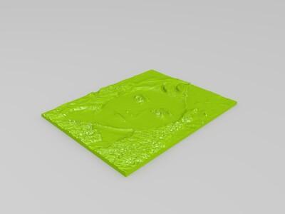 杰尼龟笔筒-3d打印模型