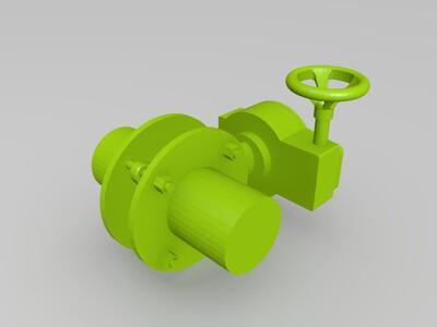 手动阀门-3d打印模型