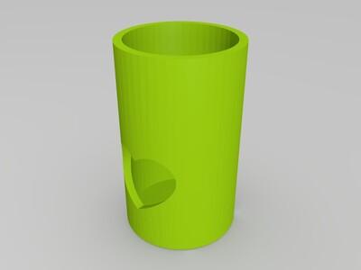缺心眼笔筒-3d打印模型
