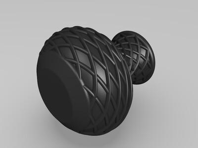 菱形花纹花瓶-3d打印模型