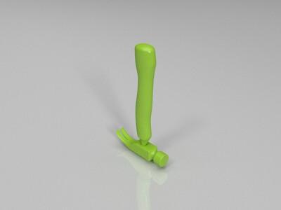 锤子-3d打印模型