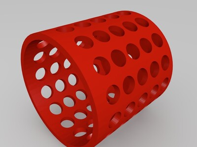 百孔凳子-3d打印模型