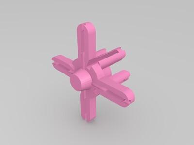 5.8GHz四叶的三叶草天线-3d打印模型