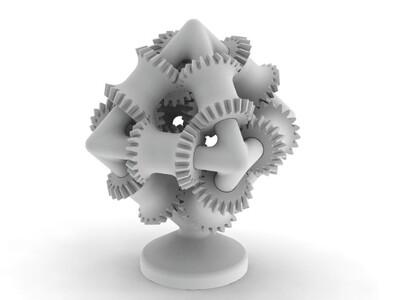 脑齿轮-3d打印模型