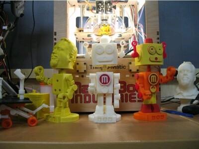 三个机器人-3d打印模型