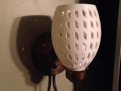 为全球的壁灯置换-3d打印模型