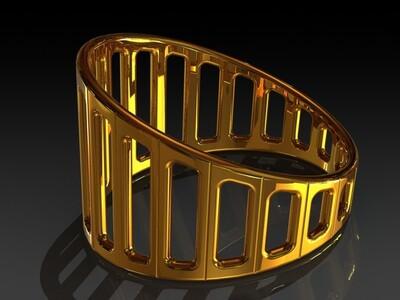 现代的戒指-3d打印模型