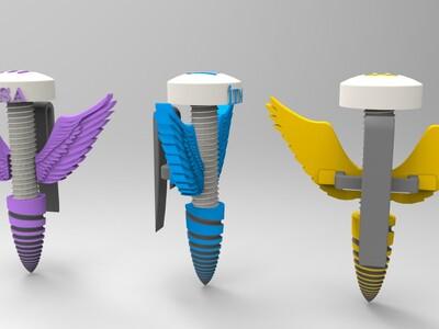 小螺丝天使-3d打印模型