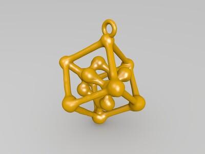 钻石格子吊坠-3d打印模型