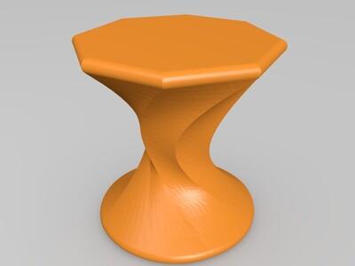 小蛮腰凳子-3d打印模型