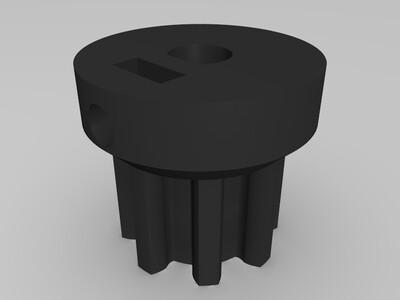 H3 减速齿轮 49:8-3d打印模型