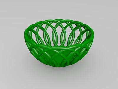 水果篮 储物篮-3d打印模型