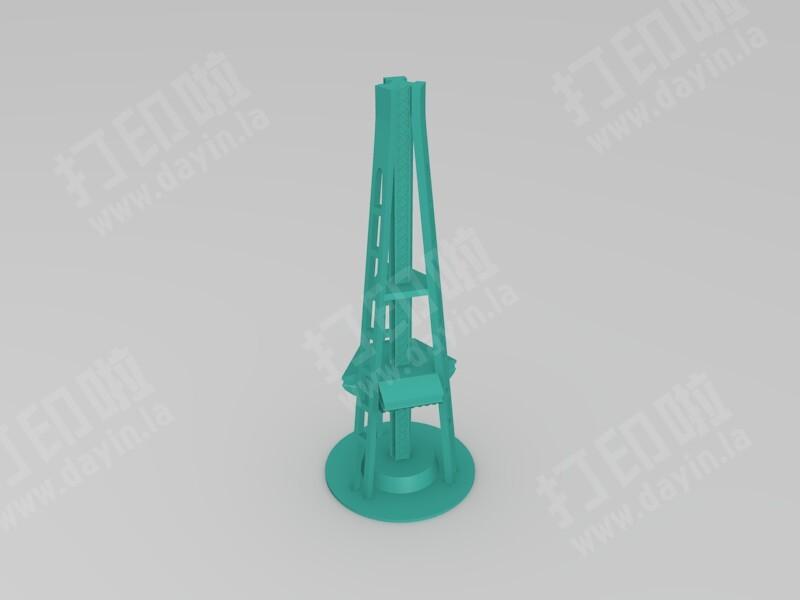 西雅图太空针塔-3d打印模型