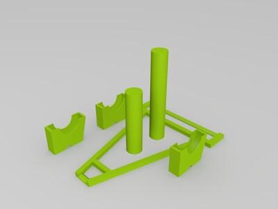 滚动式料架-3d打印模型