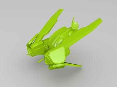 星际争霸人族飞行器铁鸦-3d打印模型