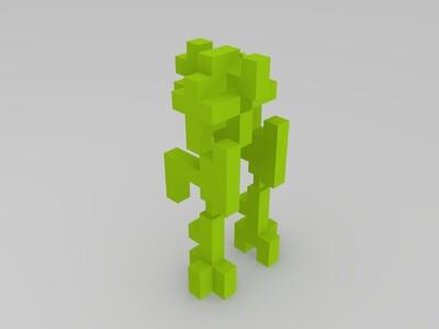 mc红石机器人-3d打印模型