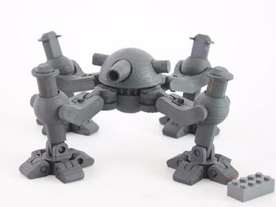 机器坦克-3d打印模型
