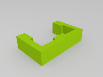 2020鋁擠用固定線座-3d打印模型