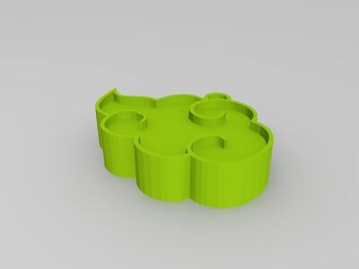 火影忍者 晓 标志-3d打印模型
