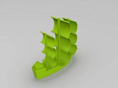 帆船-3d打印模型